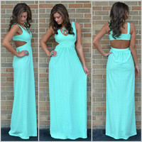 Tophatter : Turquoise Blue Long Summer Beach Boho Maxi Dress sz ...