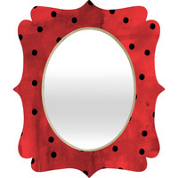 Georgiana Paraschiv Flamenco Dots Quatrefoil Mirror