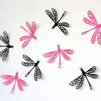 Set of 15 Dragonfly Wall art,Dragonfly wall,Wall Arts,Wall decors,Home decors,Dragonfly wall decal