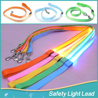2016 New LED Dog Collar Products Colorful LED Light Dog Leash Night Safety Walking Training Pet Lead Leashes For Dogs 120cm