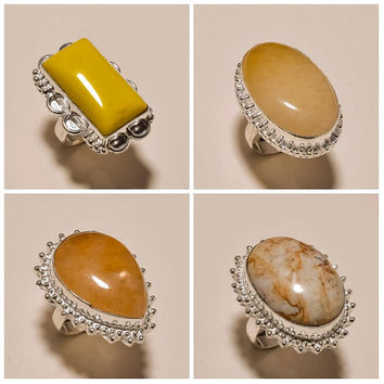 Beautiful Handmade Gemstone Rings Multi Stone Metal Rings