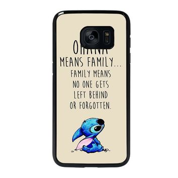STITCH LILLO OHANA FAMILY QUOTES Samsung Galaxy S7 Edge Case Cover