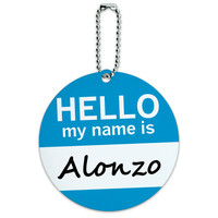 Alonzo Hello My Name Is Round ID Card Luggage Tag