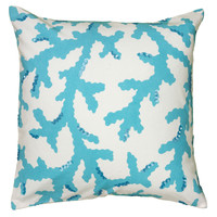 """Printed with Sequin Light Blue Pillow Cover (18"""" x 18"""")"""