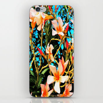 Flowers on Fire iPhone & iPod Skin by Yuval Ozery