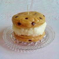 Chocolate Chip Cookie Ice Cream Sandwich Candle ©