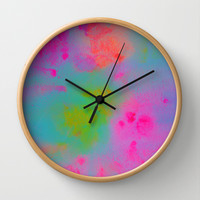 LIFTED Wall Clock by Rebecca Allen