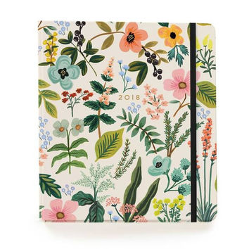 2018 17-Month Covered Spiral Bound Planner - Herb Garden
