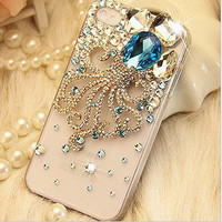 Gem octopus iPhone case iPhone 5 case, iPhone 4 case, iphone 4s case, Bling iPhone 5 case,iphone 5 cover iphone 4s cover
