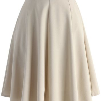 Closet Essential A-line Skirt in Apricot