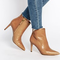 Sam Edelman Karen Caramel Leather Pointed Ankle Boots