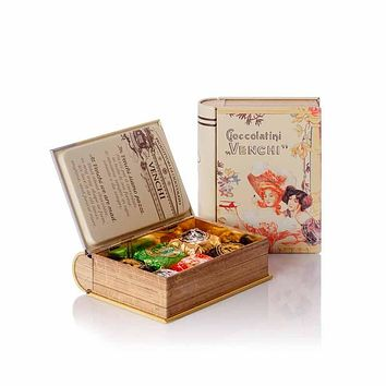 "Venchi Assorted Chocaviar Chocolates ""Le Dame"" Book 3.7 oz."