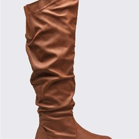 Twisted Over the Knee Ruched Wide Boots
