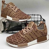 "ADIDAS NMD ""FILa"" Co-brand Fashion Casual Shoes F-A36H-MY brown"