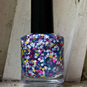 Circus Girl Nail Polish - large bottle - Handmade - polish - glitter topper - lacquer
