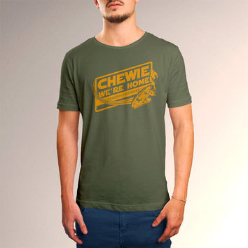 "Star Wars ""Chewie, We're Home"" Men's T-Shirt"