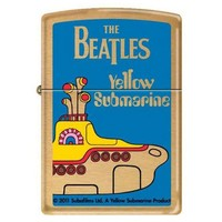 Zippo 6252 Classic The Beatles Yellow Submarine Brushed Brass Finish Windproof Pocket Lighter