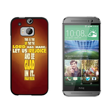 Bible Verse Cross Psalm - Religion Christianity Jesus Catholic This is day that the Lord has made HTC One M8 Case