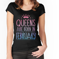 'Queens Are Born In February T-shirt, Women's Birthday Gift' T-Shirt by laurakyer