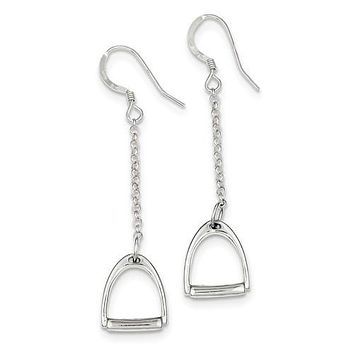 Sterling Silver Horse Stirrup Earrings