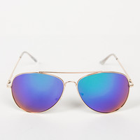 Oversized Aviator Mirrored Sunnies