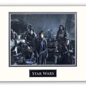 STAR WARS ROGUE ONE CAST MATTED LICENSED 8X10 PHOTO FOR FRAME 11X14 ERSO ANDOR
