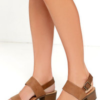 Tulum Trek Tan Heeled Sandals