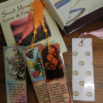Christian Bookmarks Scripture Bookmarks Bible Verse Bookmarks Set Four Religious Bookmarks