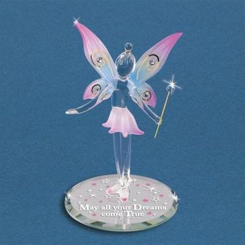 "Glass Baron ""May All Your Dreams"" Fairy Figurine"