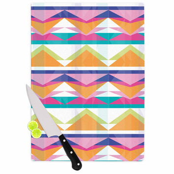 "Miranda Mol ""Triangle Waves"" Geometric Pattern Cutting Board"