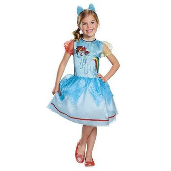 My Little Pony Rainbow Dash Costume   Girls 4 8 (blue)