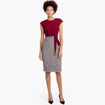 Combo tweed dress