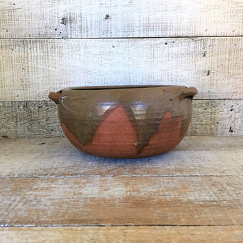 Planter Pottery Planter Mid Century Planter Earthenware Pottery Indoor Planter Flower Pot Outdoor Planter Terrarium Planter Cottage Chic