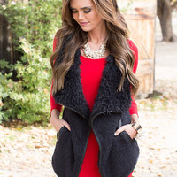 Bundled Up Vest Black