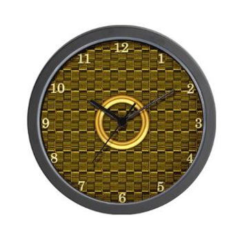 Classy Brushed Gold Wall Clock> Jah King Rasta Time> Jah King Designs