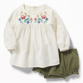 Babydoll Blouse & Bloomers Set for Baby|old-navy