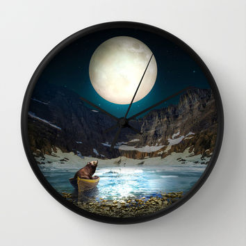 Somewhere You Are Looking At It Too II Wall Clock by Soaring Anchor Designs | Society6