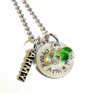 Proud Army, Marine, Navy Or Airforce Mom Or Wife Keepsake Necklace / Military Mom Or Wife Personalized Necklace