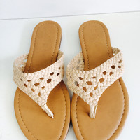 Bella Braided Sandals- Tan