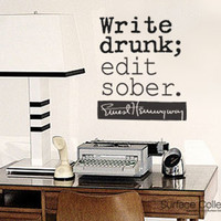 Surface Collective's Wall Tattoos / Wall Decals / Laptop Decals - Product - Write drunk edit sober