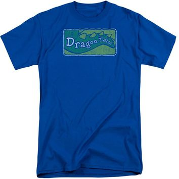 Dragon Tales - Logo Distressed Short Sleeve Adult Tall