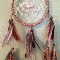 Knotted Hemp Dreamcatcher with Rose Quartz