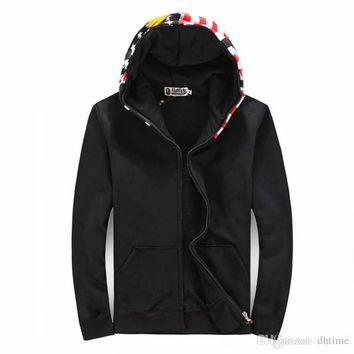 New Arrival Autumn Winter Men Women National Flag Printing Red Black Baseball hoodies Loves Casual Sweatshirt Coats Sizes S-XL