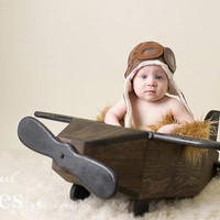Photo Prop, Photography Prop Airplane, Plane Prop, Newborn Prop, Plane, Prop, Aviator, Aviator Prop, Boy Prop