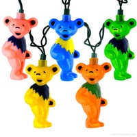 Grateful Dead - Dancing Bear String Lights on Sale for $35.95 at The Hippie Shop