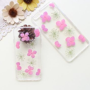 snowflake shape case 100 handmade dried flowers cover for iphone 7 7plus iphone 6 6s plus gift box b61  number 1
