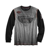 Harley-Davidson Official Men's Iron Block Pullover, Grey