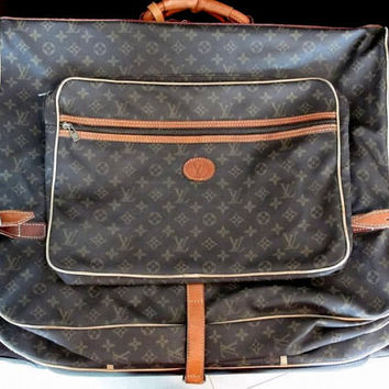 Authentic LV ~ Vintage Louis Vuitton Garment Bag ~ Monogram Louis Vuitton Luggage