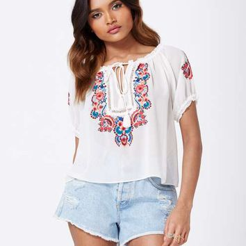 Petites Ivory Gypsy Blouse - View All - New In