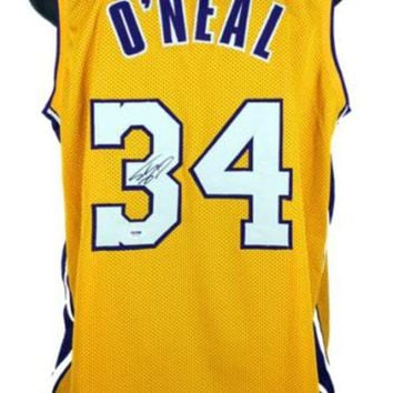 DCCKJNG Shaquille O'Neal Signed Autographed Los Angeles Lakers Basketball Jersey (PSA/DNA COA)